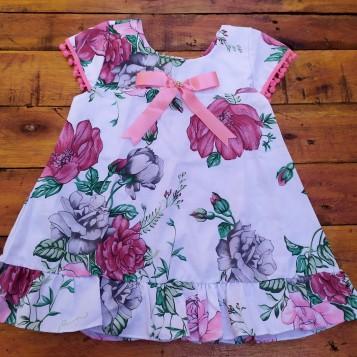 Vestido trapézio floral