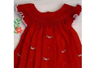 Vestido Casinha de Abelha Vermelho