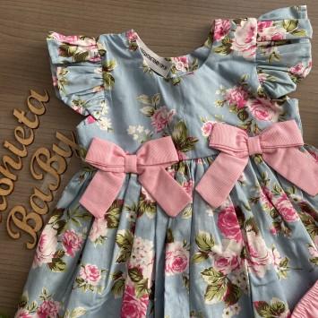 Vestido Boneca Floral Rosa