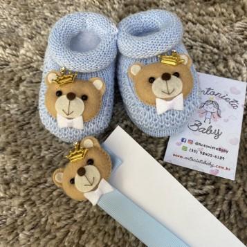 Kit Sapatinho Urso Príncipe Azul