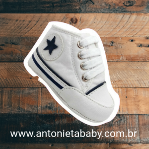 Tênis bebê tipo all star Branco