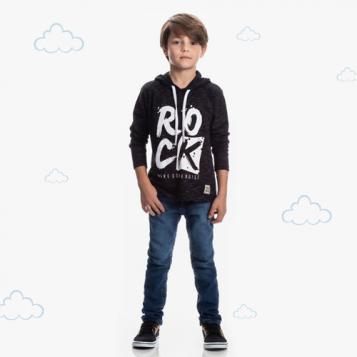 Camiseta menino rock